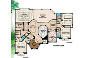 Mediterranean Style House Plan - 5 Beds 4.5 Baths 6162 Sq/Ft Plan #27-397 Floor Plan - Upper Floor Plan