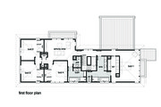 Modern Style House Plan - 4 Beds 2.5 Baths 3584 Sq/Ft Plan #496-18 Floor Plan - Upper Floor Plan