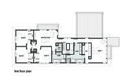 Modern Style House Plan - 4 Beds 2.5 Baths 3584 Sq/Ft Plan #496-18 Floor Plan - Upper Floor Plan