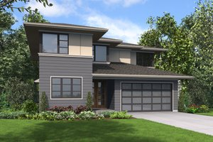 Contemporary Exterior - Front Elevation Plan #48-705
