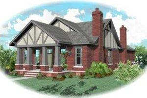 Tudor Exterior - Front Elevation Plan #81-432