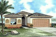 Cottage Style House Plan - 3 Beds 2 Baths 1671 Sq/Ft Plan #420-110 Exterior - Front Elevation