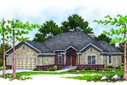 Traditional Style House Plan - 3 Beds 2 Baths 1756 Sq/Ft Plan #70-190 Exterior - Front Elevation