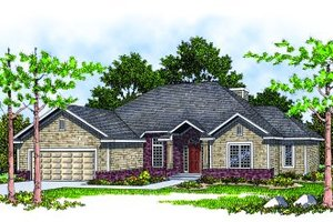 Traditional Exterior - Front Elevation Plan #70-190