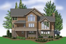 Home Plan - Rear View - 4000 square foot Craftsman home