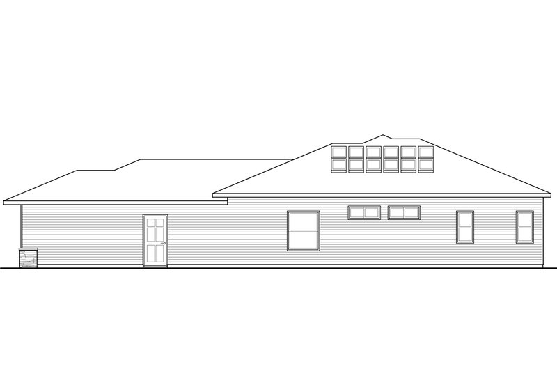 Ranch Exterior - Other Elevation Plan #124-927 - Houseplans.com