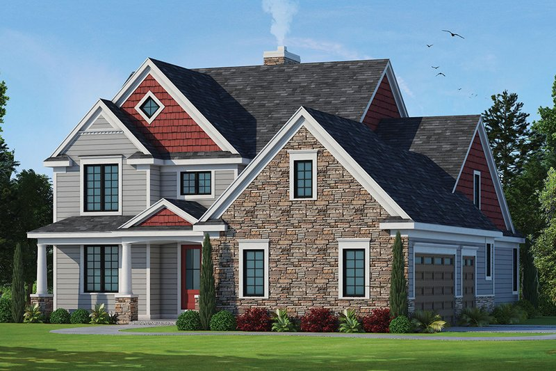 Architectural House Design - Traditional Exterior - Front Elevation Plan #20-2287