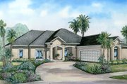 Southern Style House Plan - 4 Beds 3 Baths 2501 Sq/Ft Plan #17-1137 Exterior - Front Elevation