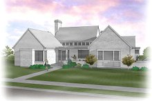 Modern Exterior - Front Elevation Plan #48-478