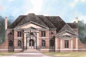 European Exterior - Front Elevation Plan #119-104