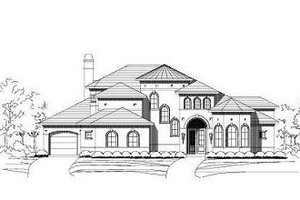 Mediterranean Exterior - Front Elevation Plan #411-641