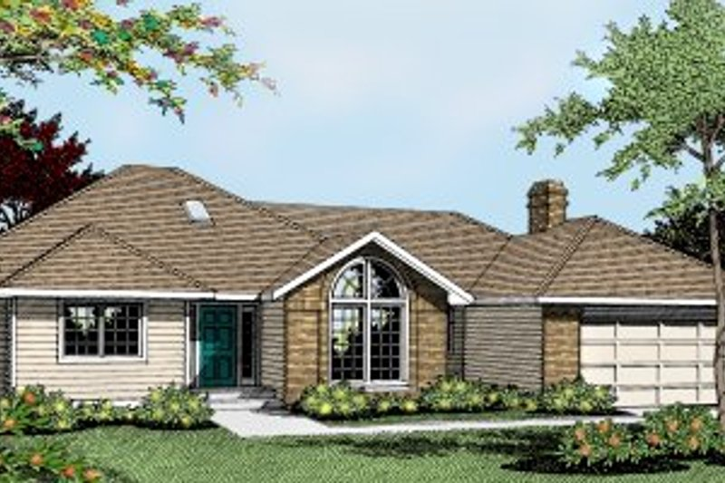 Traditional Exterior - Front Elevation Plan #90-103 - Houseplans.com