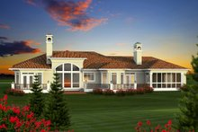 Ranch Exterior - Rear Elevation Plan #70-1142