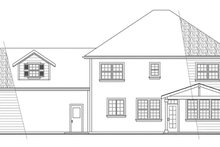 Colonial Exterior - Rear Elevation Plan #124-443