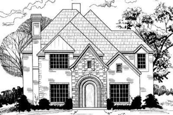 European Exterior - Front Elevation Plan #317-120