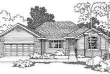 Ranch Exterior - Front Elevation Plan #124-294