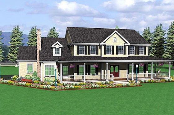 Farmhouse Exterior - Front Elevation Plan #75-102