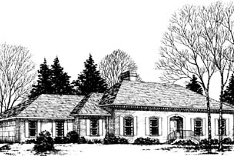 Traditional Style House Plan - 4 Beds 2.5 Baths 2968 Sq/Ft Plan #10-154 Exterior - Front Elevation