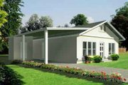 Adobe / Southwestern Style House Plan - 3 Beds 2 Baths 1160 Sq/Ft Plan #1-1058 Exterior - Front Elevation
