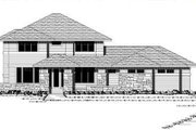 Prairie Style House Plan - 3 Beds 2.5 Baths 2896 Sq/Ft Plan #51-283 Exterior - Other Elevation