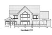 Craftsman Style House Plan - 4 Beds 4.5 Baths 4300 Sq/Ft Plan #413-859 Exterior - Rear Elevation