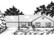 Ranch Style House Plan - 3 Beds 2 Baths 2050 Sq/Ft Plan #36-247 Exterior - Front Elevation