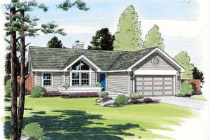 Traditional Exterior - Front Elevation Plan #312-373