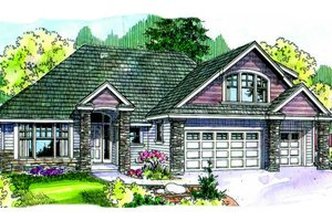 Traditional Exterior - Front Elevation Plan #124-681