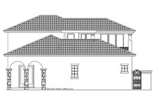 Mediterranean Exterior - Rear Elevation Plan #930-22