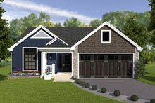 Dream House Plan - Craftsman Exterior - Front Elevation Plan #57-671
