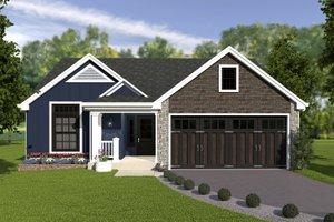 Craftsman Exterior - Front Elevation Plan #57-671