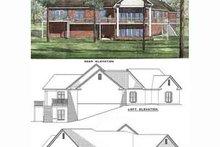 House Plan Design - Southern Exterior - Rear Elevation Plan #17-159