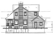 Country Style House Plan - 3 Beds 2.5 Baths 2283 Sq/Ft Plan #23-2010 Exterior - Rear Elevation