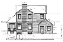 Country Exterior - Rear Elevation Plan #23-2010