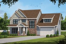 Architectural House Design - Classical Exterior - Front Elevation Plan #20-2434