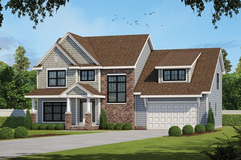 Dream House Plan - Classical Exterior - Front Elevation Plan #20-2434