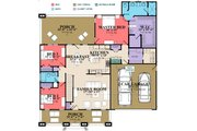 Country Style House Plan - 4 Beds 3 Baths 2712 Sq/Ft Plan #63-397 Floor Plan - Main Floor Plan