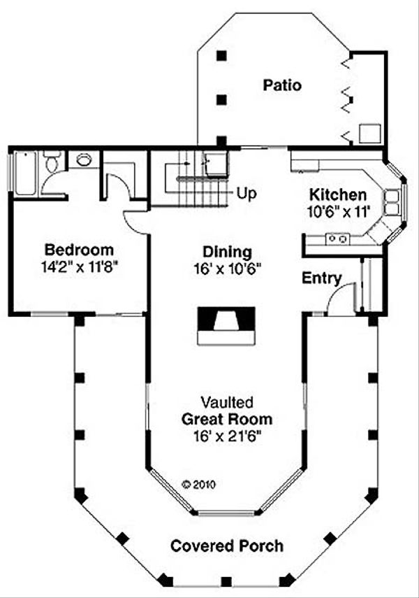 Floor Plan - Main Floor Plan Plan #124-236
