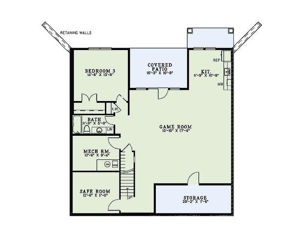 Craftsman Floor Plan - Lower Floor Plan #17-2475