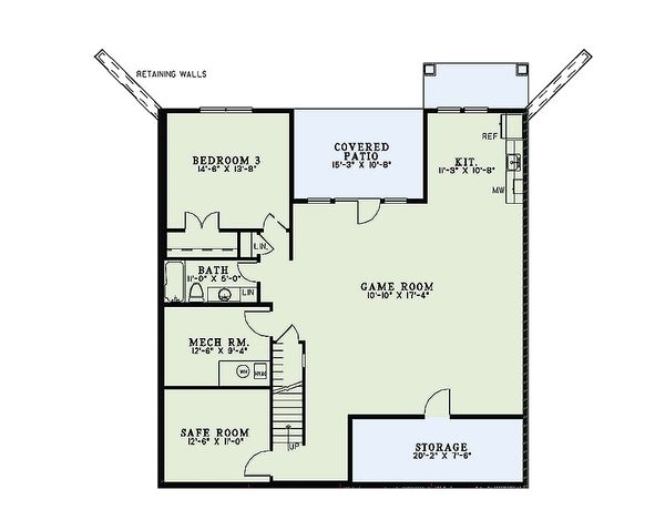 Dream House Plan - Craftsman Floor Plan - Lower Floor Plan #17-2475