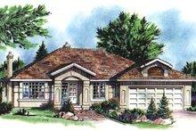 Home Plan Design - European Exterior - Front Elevation Plan #18-174