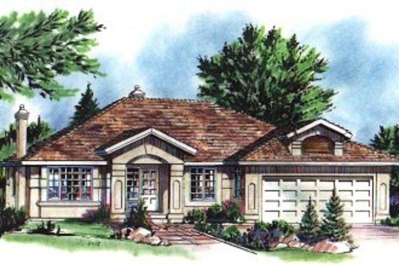 House Blueprint - European Exterior - Front Elevation Plan #18-174
