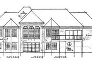 European Style House Plan - 3 Beds 3.5 Baths 3749 Sq/Ft Plan #51-172 Exterior - Rear Elevation