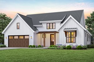 Contemporary Exterior - Front Elevation Plan #48-944