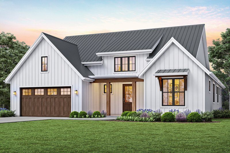 Contemporary Style House Plan - 3 Beds 2 Baths 1878 Sq/Ft Plan #48-944 Exterior - Front Elevation