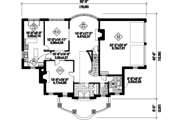 European Style House Plan - 4 Beds 3 Baths 3599 Sq/Ft Plan #25-4790 Floor Plan - Main Floor