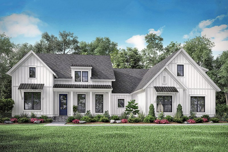 Farmhouse Style House Plan - 3 Beds 2.5 Baths 2468 Sq/Ft Plan #1067-3 Exterior - Front Elevation