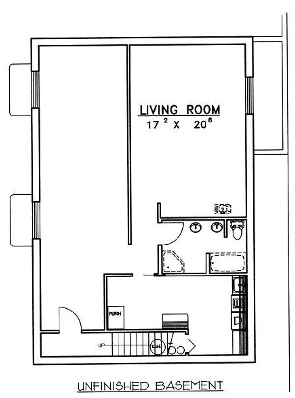 Log Floor Plan - Lower Floor Plan Plan #117-547