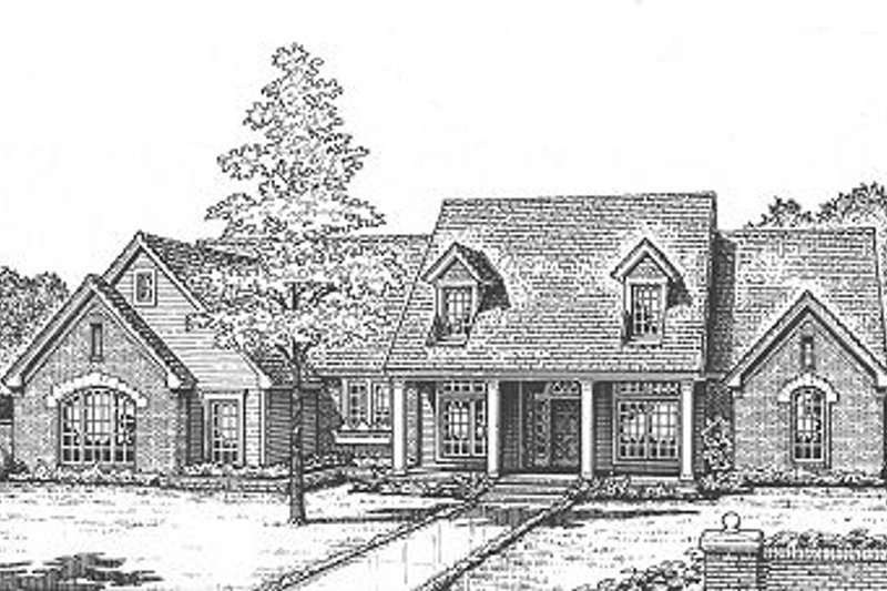 Country Style House Plan - 4 Beds 2.5 Baths 2642 Sq/Ft Plan #310-622 Exterior - Front Elevation