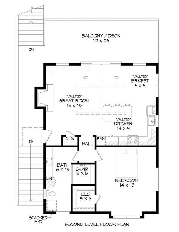 Contemporary Floor Plan - Upper Floor Plan #932-350